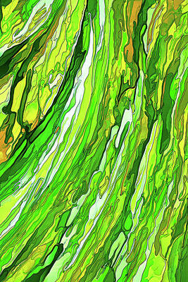 Digitally Manipulated Photograph - Green Garden by ABeautifulSky Photography by Bill Caldwell