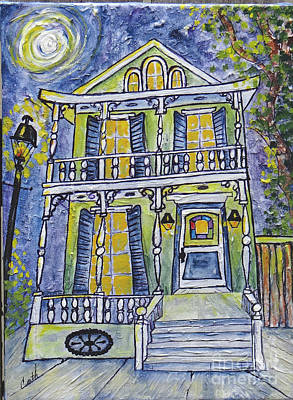 Painting - Green Garden District Home by Catherine Wilson