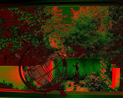 Digital Art - Green Garden by Larry Beat