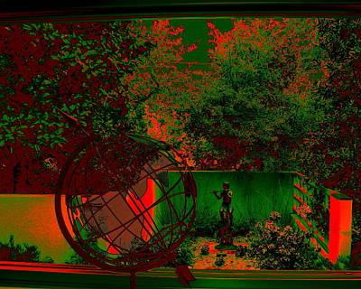 Digital Art - Green Garden by Larry Beat