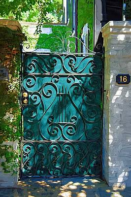 Green Gate Art Print by Donna Bentley