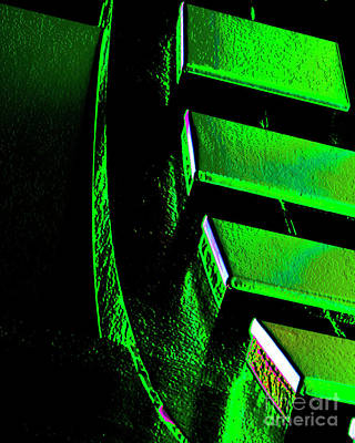Green Gear Art Print by Adriano Pecchio