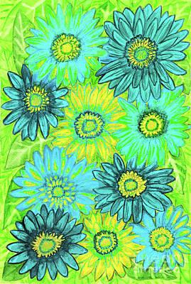 Painting - Green Gerbera Flowers by Irina Afonskaya