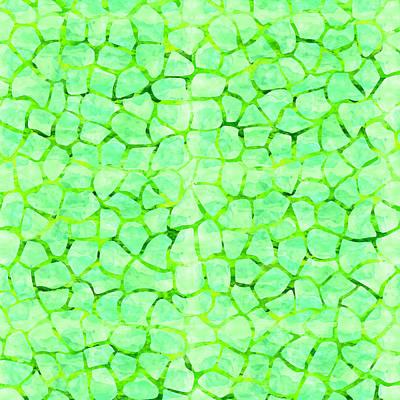 Green Giraffe Print Art Print