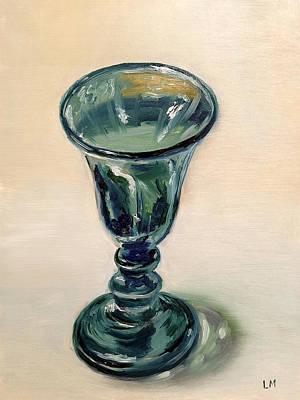 Green Glass Goblet Art Print