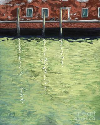 City Scene Pastel - Green Glass Island by Cathy Carey