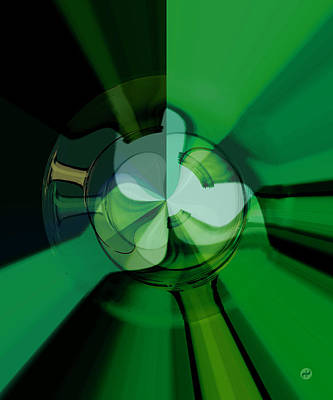 Wall Art - Digital Art - Green Glass Wheels by Digital Painting