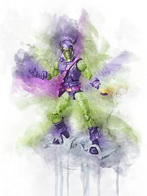 Comics Royalty-Free and Rights-Managed Images - Green Goblin by Aged Pixel