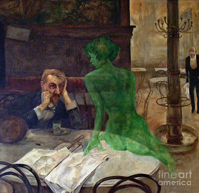 Photograph - Green Goddess Devotee 1901 by Padre Art