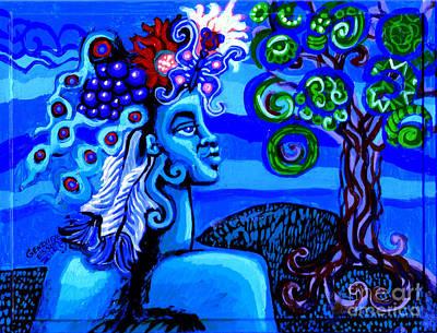 Green Goddess With Tree Original