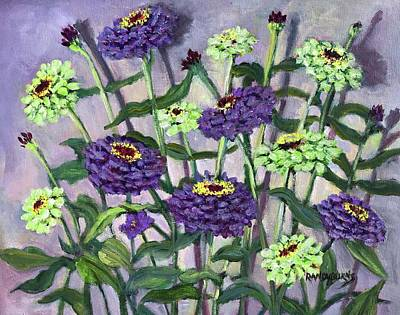 Painting - Green Gold And Violet by Randy Burns