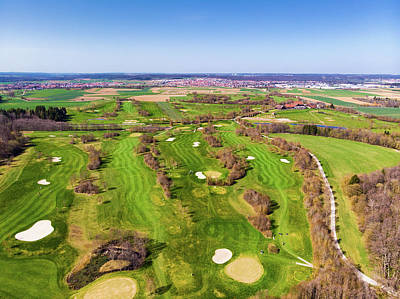 Photograph - Green Golf Course Aerial View by Matthias Hauser