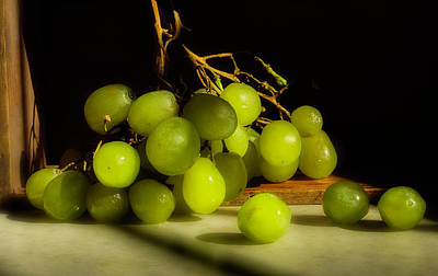 Photograph - Green Grapes by Mike Eingle