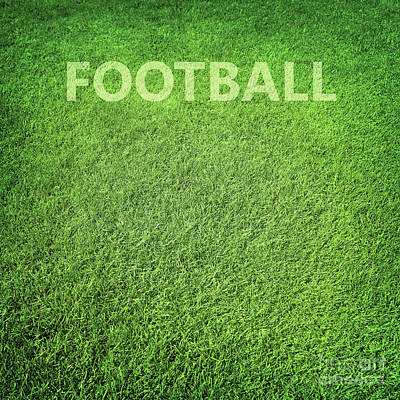 Photograph - Green Grass Football Background by Anna Om