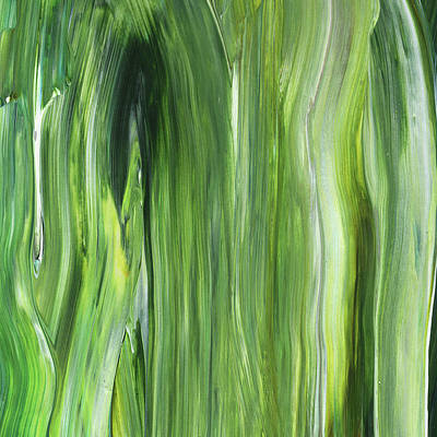 Painting - Green Gray Organic Abstract Art For Interior Decor IIi by Irina Sztukowski