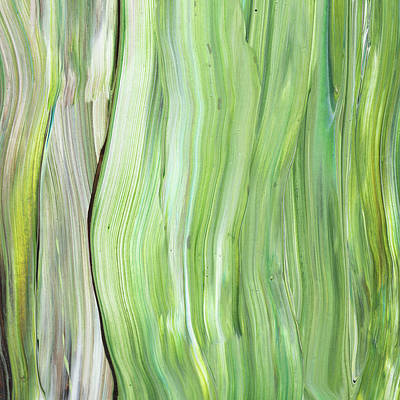 Painting - Green Gray Organic Abstract Art For Interior Decor Vi by Irina Sztukowski