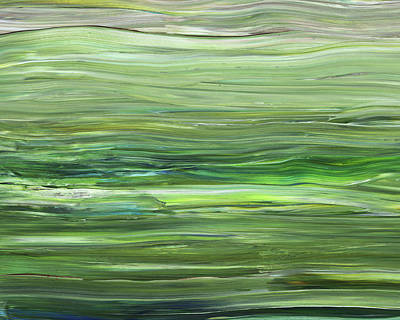 Painting - Green Gray Organic Abstract Art For Interior Decor Vii by Irina Sztukowski