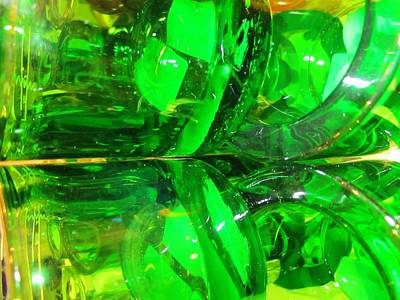 Photograph - Green Green Glass Of Home by Rosita Larsson