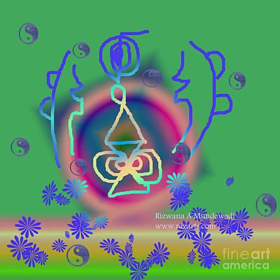 Digital Art - Green Halu The Key To Karmic Healing by Rizwana Mundewadi