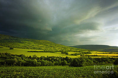 Photograph - Green Hills And Stormy Sky by Dimitar Hristov