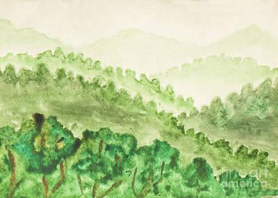 Painting - Green Hills by Irina Afonskaya