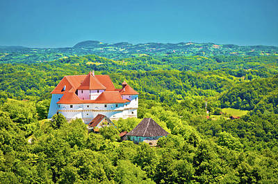 Photograph - Green Hills Of Zagorje Region And Veliki Tabor Castle View by Brch Photography