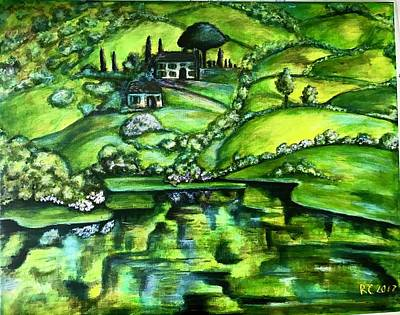 Painting - Green Hills by Rae Chichilnitsky