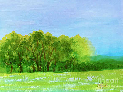 Painting - Peaceful Summer  by Wonju Hulse