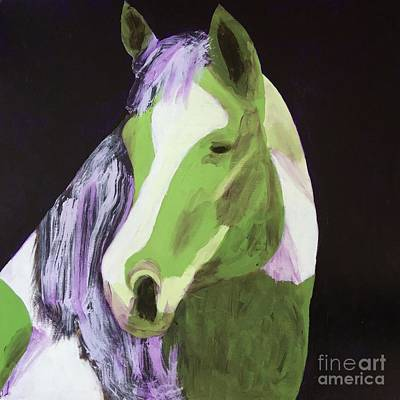Painting - Green Horse by Donald J Ryker III