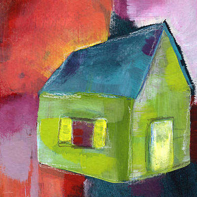Vibrant Mixed Media - Green House- Art By Linda Woods by Linda Woods