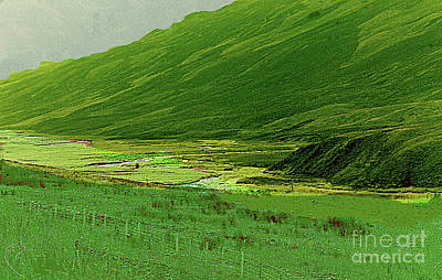 Photograph - Green Is The Color Of Scotland by Merton Allen