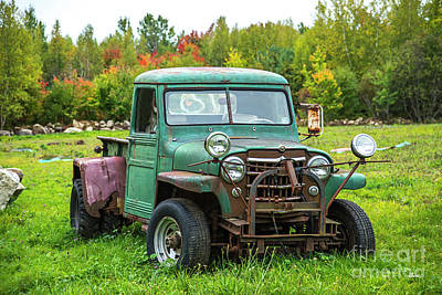 Photograph - Green Jeep by Alana Ranney