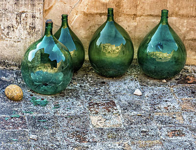 Photograph - Green Jugs by Robin Zygelman