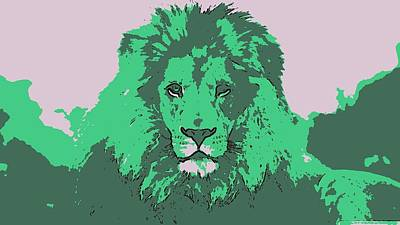 Digital Art - Green King by Antonio Moore