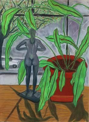 Green Lady Art Print by Eliezer Sobel