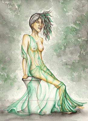 Painting - Green Lady  by Karen Musick