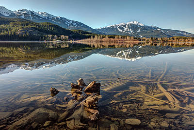 Photograph - Green Lake Reflection Of Whistler Blackcomb by Pierre Leclerc Photography