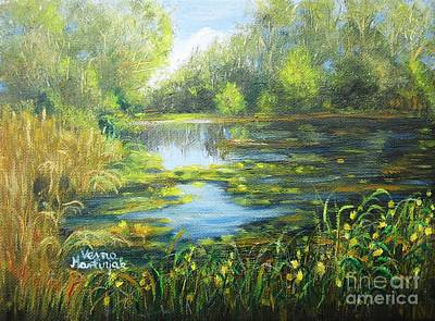 Painting - Green Lake by Vesna Martinjak