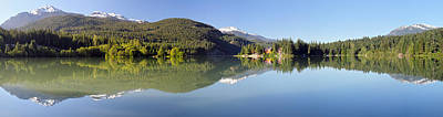Green Lake Whistler Panorama Art Print by Pierre Leclerc Photography