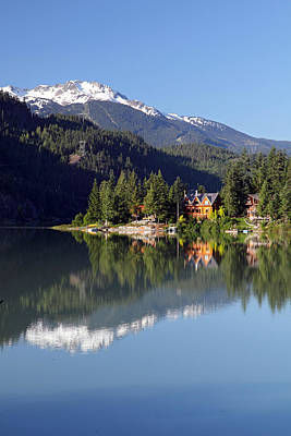 Ski House Wall Art - Photograph - Green Lake Whistler  by Pierre Leclerc Photography