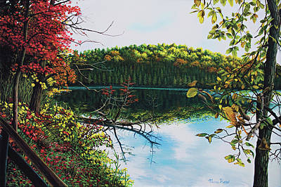 Painting - Green Lakes by Maria Rizzo