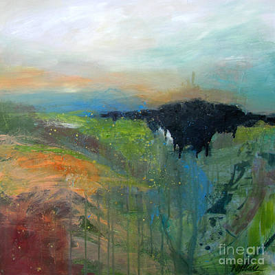 Drips Painting - Green Landscape 915 by Wendy Westlake