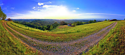 Photograph - Green Landscape Of Medjimurje Region Panoramic View From Hill by Brch Photography
