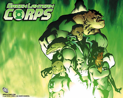 Green Digital Art - Green Lantern Corps by Maye Loeser