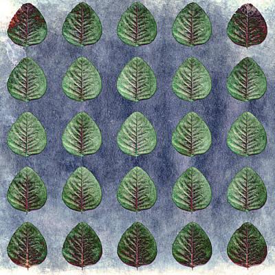 Green Leaf Collage Art Print by Sumit Mehndiratta