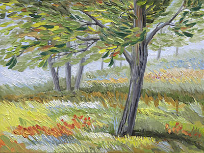 Green Leaf Fancy Original by Paula Blasius McHugh