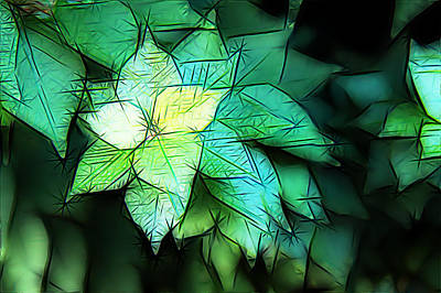 Green Leaves Art Print by Carol Crisafi