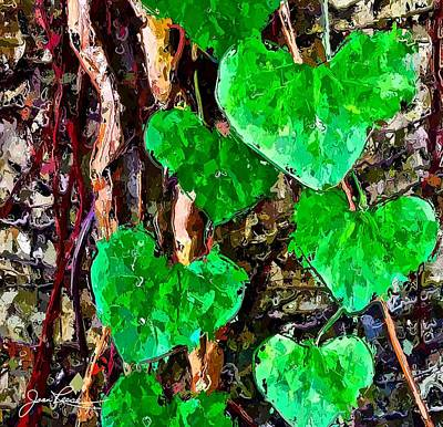 Painting - Green Leaves by Joan Reese