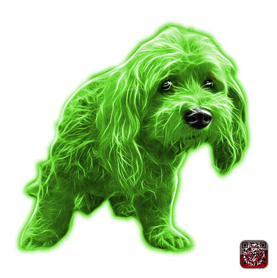Painting - Green Lhasa Apso Pop Art - 5331 - Wb by James Ahn