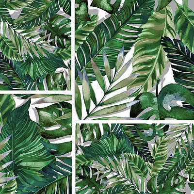 Leaves Digital Art - Green Life by Mark Ashkenazi